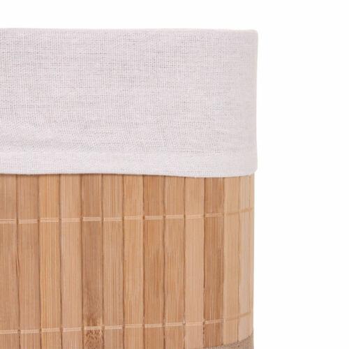 Bambus naturfarben Korb Aufbewahrungsbox 3er Set Aufbewahrungskorb HWC-C21
