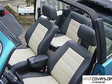 VW Golf 1 Cabrio, Ledersitze, Lederausstattung, Sitzbezüge schwarz-beige