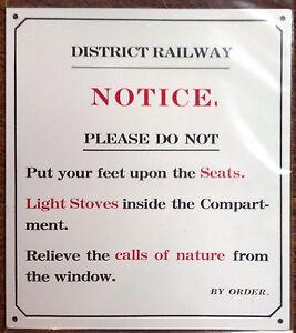 METAL-RAILWAY-SIGN-NOTICE-DO-NOT-PUT-FEET-ON-SEATS-ETC