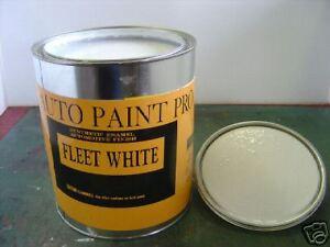 FLEET WHITE AUTO BODY PAINT ACRYLIC LACQUER RESTORATION ...