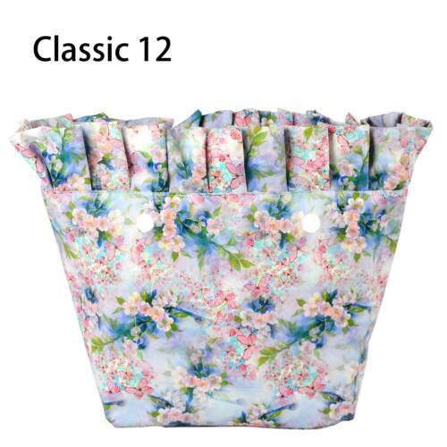 Nouveau Composite Sergé Tissu volants plissé poche intérieure pour O Bag Classic Mini