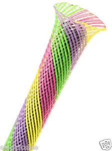 "0.5/"" Flexo PET Wire Sleeving Sherbert 1meter Techflex PTN0.50SB 1//2/"""