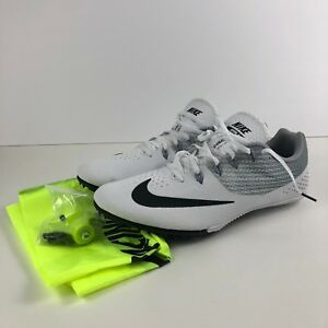 4a64c88f45b Nike Zoom Rival S 8 Men Spikes Sprint Shoes 806554 110 White Size 13 ...