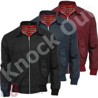 Mens Raiken Classic Retro Style Bomber Harrington Jacket Fashion
