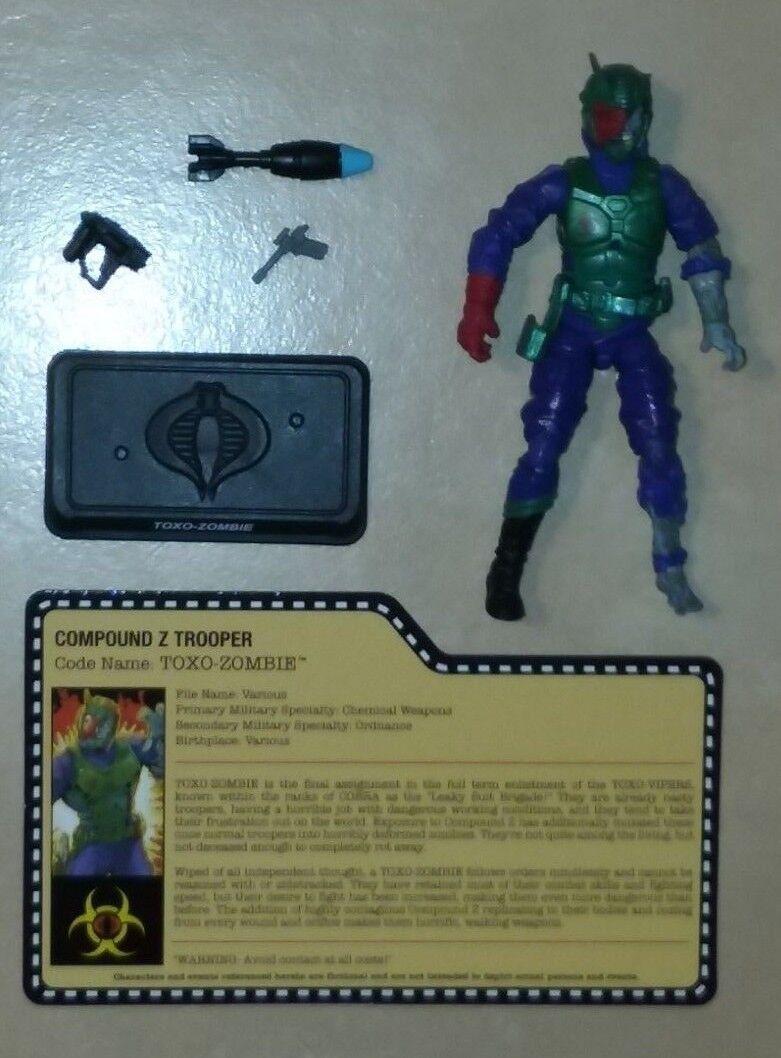 2014 GI Joe Cobra Zombie Initiative Toxo-Zombie Compound Z Trooper