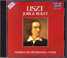 Jorge BOLET: LISZT Vol.4 Annees de Pelerinage (Deuxième Année Italie) CD DECCA