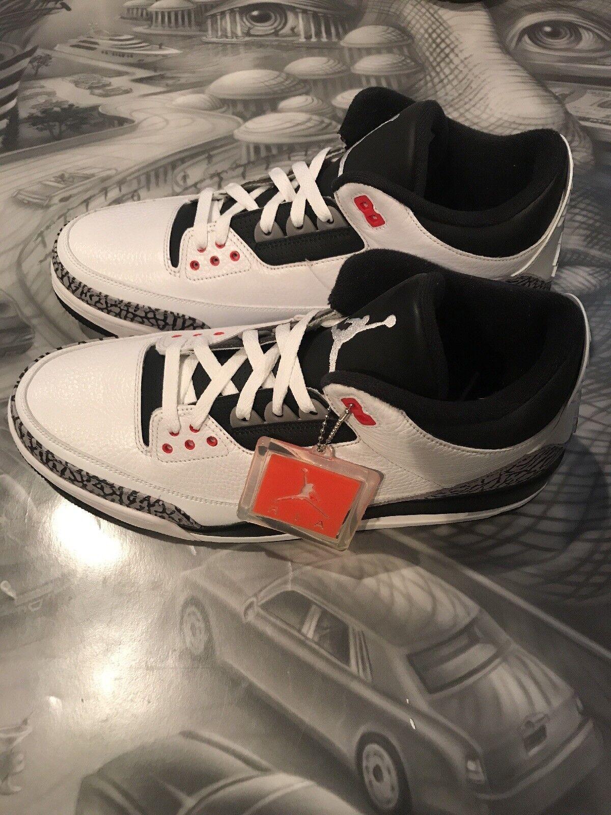sports shoes 3f7dd b78a1 ... clearance nike air jordan 3 iii og retro classic blanco gran cemento  negro sz 13 gran ...