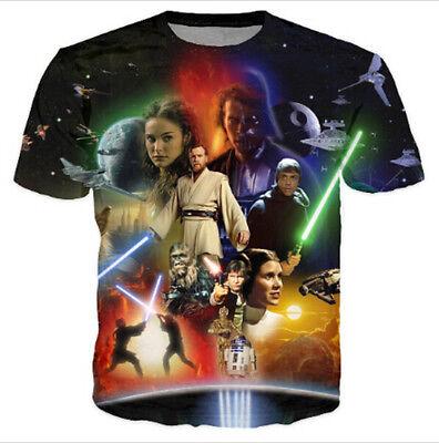 New Womens/Mens Star Wars Lightsaber Anakin Skywalker 3D Print T-Shirt  TT19