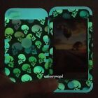 For iPod Touch 5th / 6th Gen - Colorful Skull GLOW IN THE DARK Hybrid Armor Case