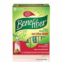 Benefiber Fiber Drink Mix On The Go Kiwi Strawberry Stick Packs 24 Sticks on sale