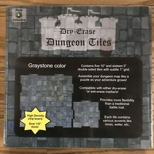Details about Dungeon Tiles: Graystone - 10'' and 5'' Squares (21) ADD'L  ITEMS SHIP FREE