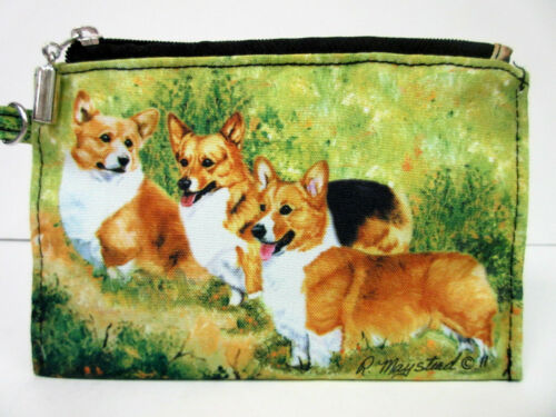 Welsh Corgi Dog Zippered Pouch /& Wallet By Ruth Maystead 3 Corgis Dogs Free Ship