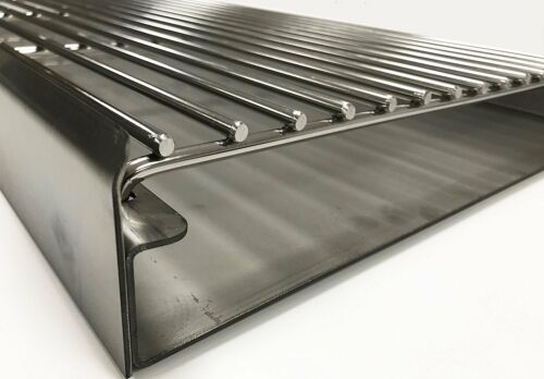 SS103DXL-R Extra Large Stainless Steel DIY Brick Charcoal BBQ Kit 112cm x 40cm