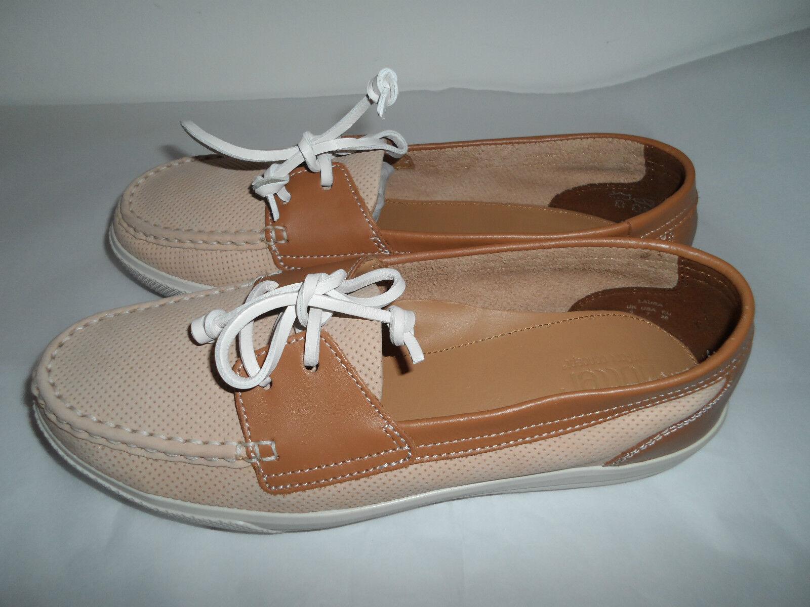 Zapatos De Cuero más caliente Laura marrón y y y tan Plana Talla 5 (38) Nuevo Y En Caja  servicio de primera clase