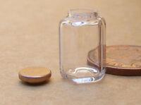 1:12 Hexagonal Glass Storage Jar Dolls House Miniature Kitchen Accessory Mg1l