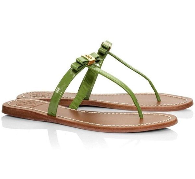 NIB Tory Burch LEIGHANNE Thong Sandals Leaf Green 9, 9.5 9.5 9.5 877326
