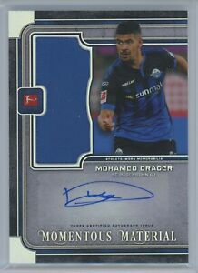 2019-20 Topps Museum Bundesliga Momentous Material Auto Patch Mohamed Drager /29