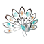 Crystocraft-Proud-Peacock-Crystal-Ornament-With-Swarovski-Elements-Gift-Boxed thumbnail 1
