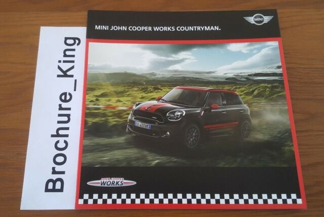 Mini John Cooper Works Countryman Brochure 2012 For Sale Online Ebay