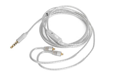 Silver Plated Audio Cable For Shure SE215 SE315 SE425 With remote microphone