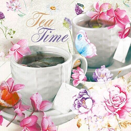 Belle Café 963 Thé Pots 4 Simple papier DECOUPIS serviettes Tea Time