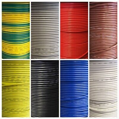 10M White 6mm 53Amp 12v Automotive Cable Wire Marine
