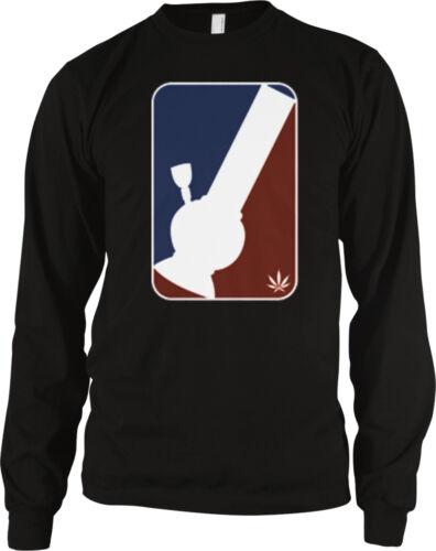 Bong Pro Sports Logo Hit Smoke Weed Marijuana Pot Get High Stoned Men/'s Thermal