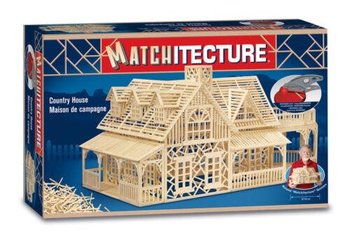 Matchitecture Land Haus Streichholz Modell Konstruktion Handwerk Set