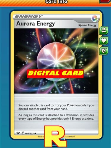 DIGITAL ptcgo in Game Card for the Pokemon TCG Online 4x Aurora Energy