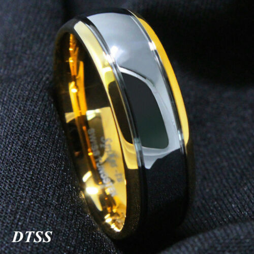 ATOP 8mm High Polished Tungsten Carbide Ring Wedding Band Mens Jewelry Size 14
