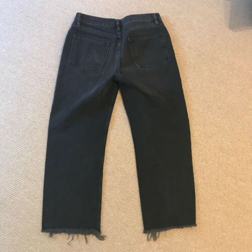 All Saints Mazzy Crop Straight Jeans Washed Black