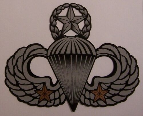 Window Bumper Sticker Military Army Combat Master 2 Jump Wings NEW Decal