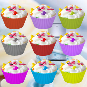 Reusable Silicone Cake Cups Muffin Cases Cupcake Baking Mold Liner Pastry Tools