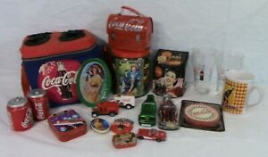 COCA-COLA-COKE-COLLECTIBLES-COLLECTION-Insulated-soft-side-cooler-glasses-tins