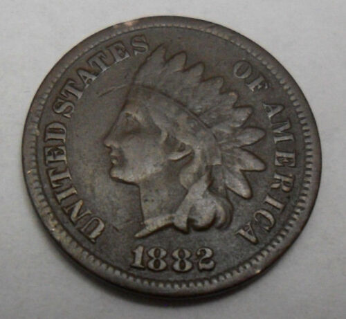 1882 P Indian Head Cent Penny  *AG OR BETTER*  **FREE SHIPPING**