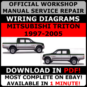 OFFICIAL-WORKSHOP-Service-Repair-MANUAL-for-MITSUBISHI-TRITON-1997-2005