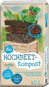 Floragard Uni Bio Hochbeet Kompost Komposterde 40 L