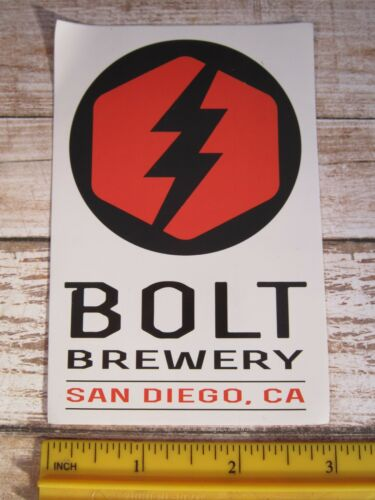 Collectible BEER STICKER ~ BOLT Brewery ~*~ Little Italy San Diego CALIFORNIA