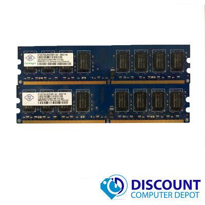 A-Tech 4GB Kit Lot 2x 2GB PC2-6400 6400 DDR2 DDR-2 800mhz 800 Desktop Memory RAM