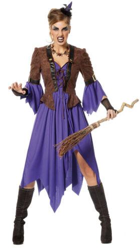 Sorcières-Costume Femmes conte de fées-Sorcière Pour Halloween Carnaval KK