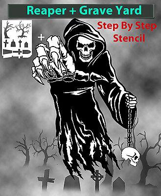 Multicouche Step by Step AIRBRUSH STENCIL GRIM REAPER 2