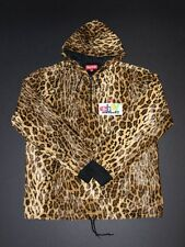 New Supreme Fur Pullover Leopard hooded sweatshirt red box logo SS 2014 Size L