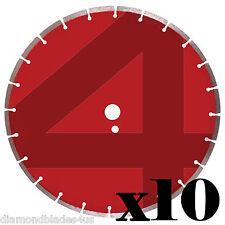 10 14 Diamond Saw Blades 4 Concrete Brick Block Stone Slate Pavers Masonry 8mm