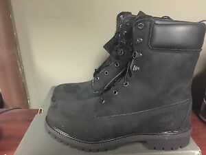 timberland 8 inch premium boot black