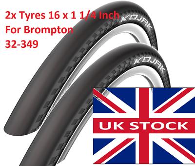 "Schwalbe Tyre KOJAK HS385 RaceGuard 32-349 16/"" x 1-1//4/"" For Brompton Bike Tire"