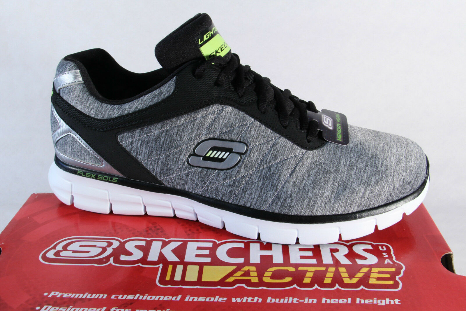 Skechers Schnürschuhe Sneakers Halbschuhe grau 91189   NEU!