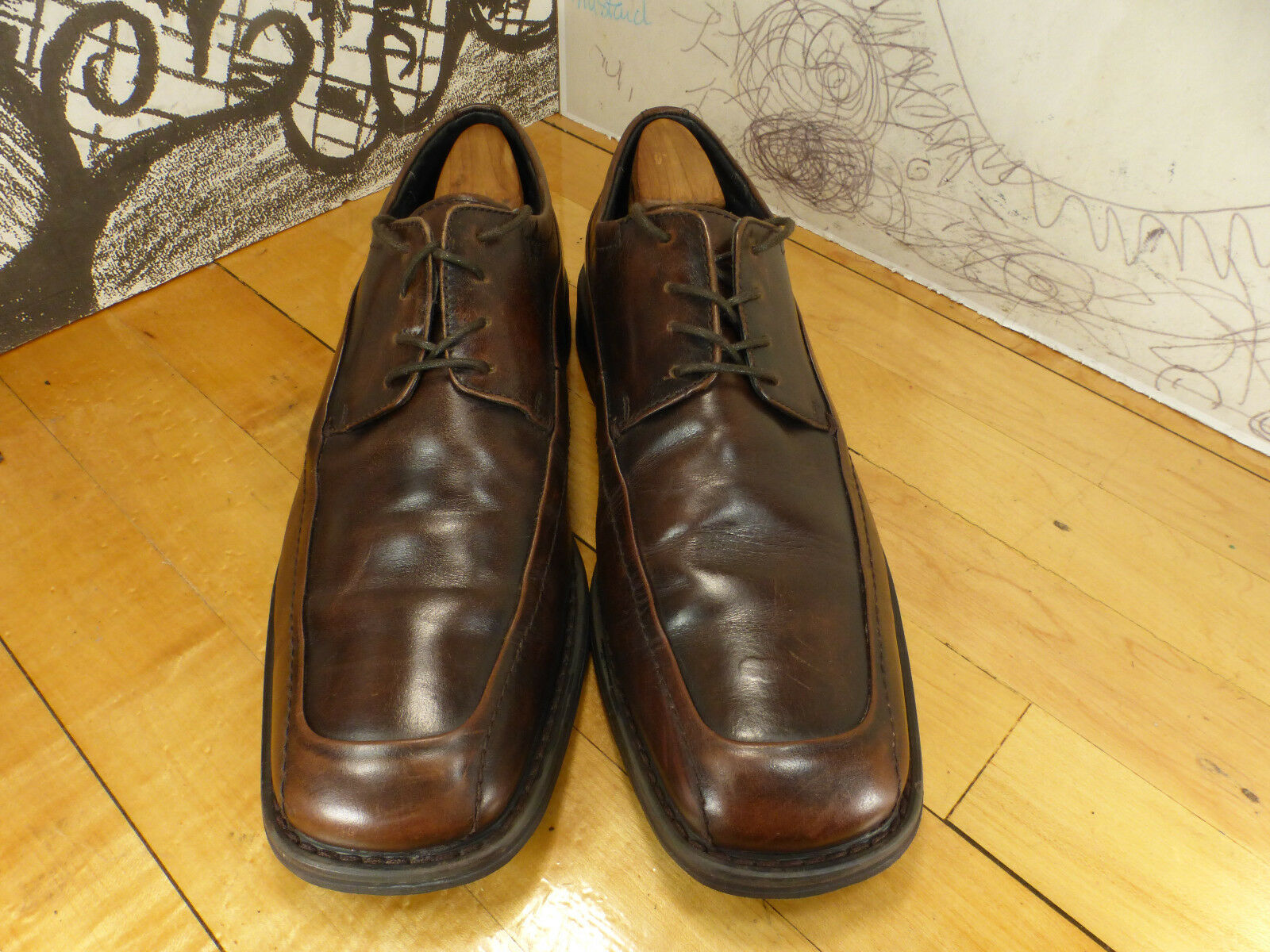 Florsheim Brown Leather Size Oxfords, Size Leather 10M, 18303-2 024e49