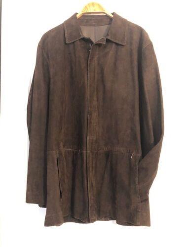 Mens Suede Jacket: Chocolate Brown; Beautiful Ital