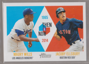 2014-Topps-Heritage-Then-amp-Now-TAN-WE-Maury-Wills-Jacoby-Ellsbury