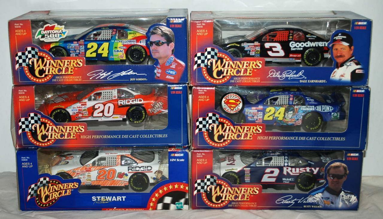 Lot of 6 1 24  2  3 3 3  20  24 Winner's Circle Nascar Racecar Die Cast Model 98 367022